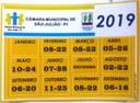 Calendário das Sessões-2019