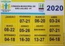 Calendário das Sessões